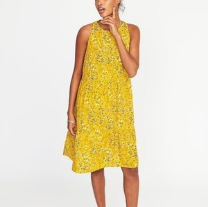 Yellow swing dress summer sun dress Old Navy